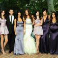 Bruce Jenner, Kendall Jenner, Ryan Seacrest, Kim Kardashian, Khloé Kardashian, Kylie Jenner, Kris Jenner, Kourtney Kardashian, Robert Kardashian au mariage de Khloé Kardashian et Lamar Odom à Los Angeles, le 27 septembre 2009.