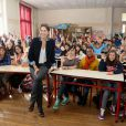 Maud Fontenoy lors du lancement des programmes pédagogiques scolaires 2013-2014 de la fondation Maud Fontenoy au Collège Jules Ferry de Paris, le 8 octobre 2013