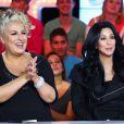 """Exclusif - Cher et Marianne James invitées de l'émission """"Touche pas mon poste"""", lors de l'enregistrement à Paris, le 10 octobre 2013."""