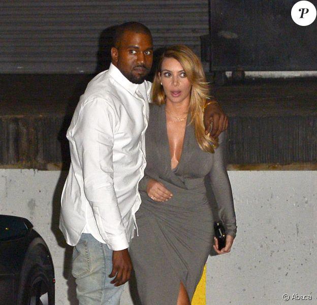 Kim Kardashian et Kanye West arrivent à l'opéra de Los Angeles, le 11 octobre 2013.