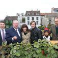 Exclusif -Daniel Vaillant (le maire du 18e), Thomas Dutronc et Nolwenn Leroy (parrain et marraine) - Fête des Vendanges de Montmartre 2013 (80e anniversaire) a Paris, le 12 octobre 2013.12/10/2013 - Paris