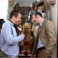 """Dany Boon et Kad Merad dans le plus gross succès français, """"Bienvenue chez les Ch'tis"""", 2008."""