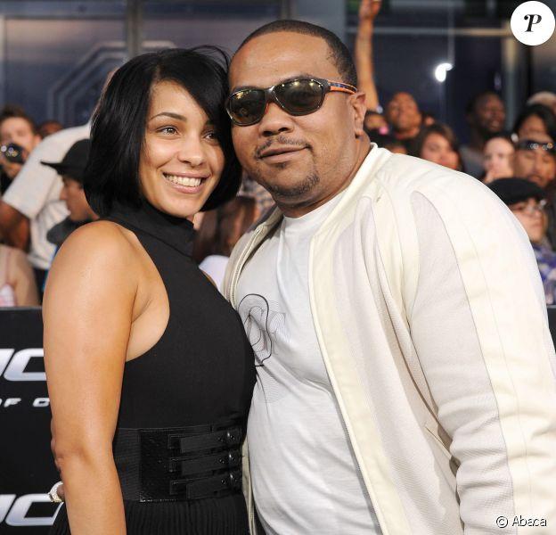 Timbaland et sa femme Monique à Los Angeles, le 6 août 2009.
