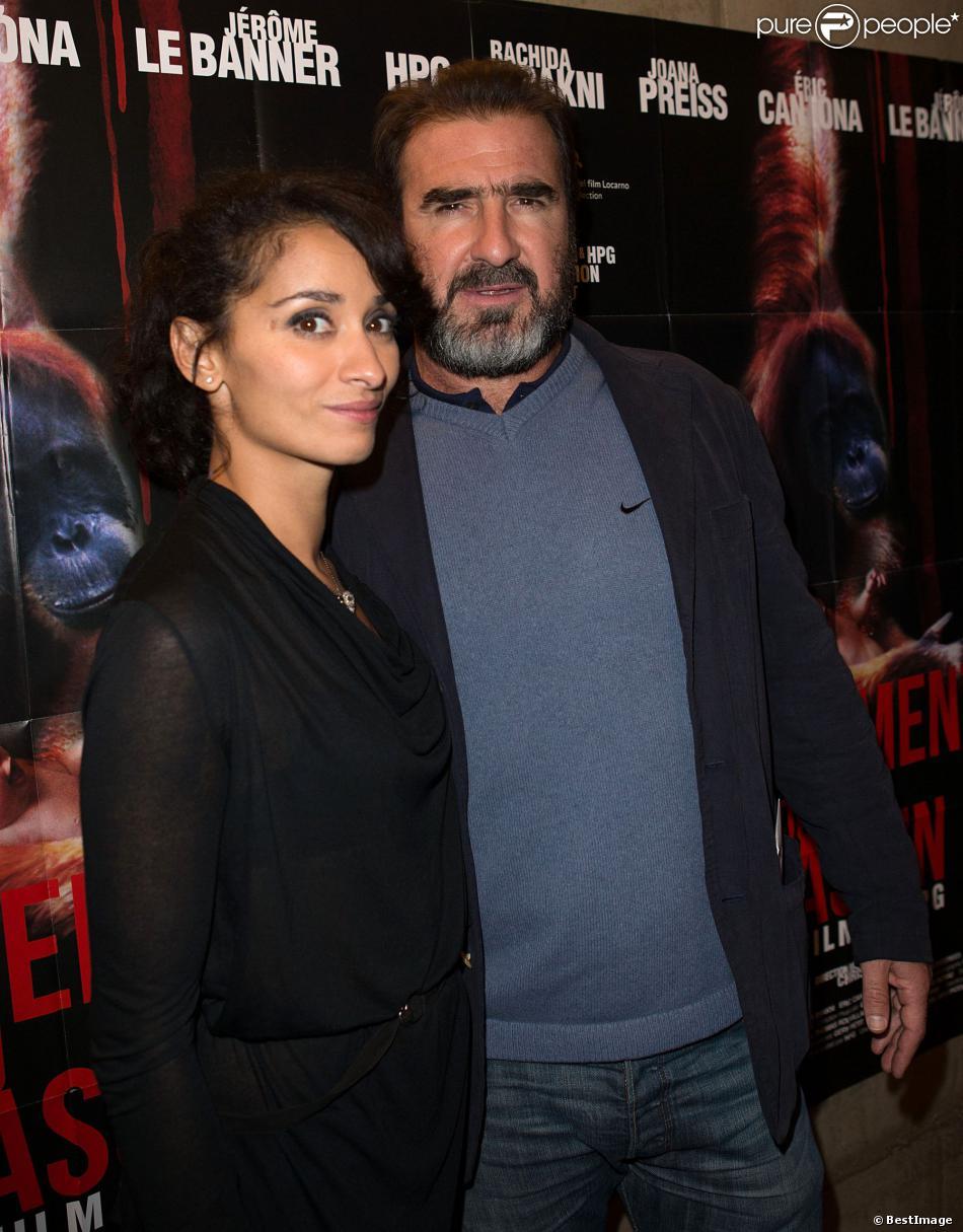 Eric Cantona et Rachida Brakni lors de l'avant-première du film Les mouvements du bassin à Paris le 25 septembre 2012