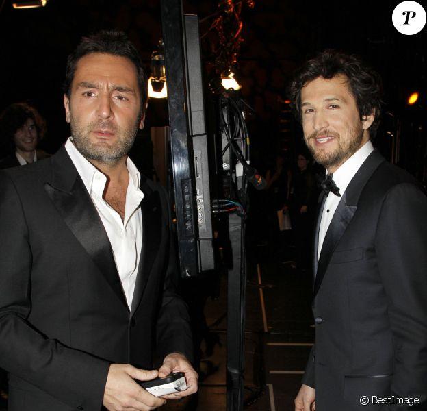Gilles Lellouche et Guillaume Canet en février 2012 à Paris