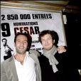 Gilles Lellouche et Guillaume Canet en février 2007 à Paris