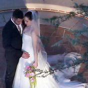 Rose McGowan : Magnifique dans sa robe de mariée, la star est aux anges