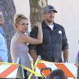 Britney Spears et son petit ami David Lucado lors d'un match de foot de Sean Preston et Jayden James à Calabasas, le 19 octobre 2013.