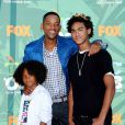 Will Smith et ses deux fils Trey et Jaden au Teen Choice Awards