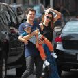 Orlando Bloom et Miranda Kerr à New York, le 13 juillet 2013.