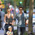 Orlando Bloom et Miranda Kerr à New York, le 4 juillet 2013.