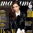 Miranda Kerr en couverture de Madame Figaro, novembre 2013.