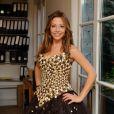 EXCLUSIF. Dounia Coesens essaye sa robe pour le defile du Salon du Chocolat qui aura lieu le 29 octobre a Paris. Fait a Paris, France le 27 octobre 2013.