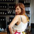 EXCLUSIF. Penelope Bagieu essaye sa robe pour le defile du Salon du Chocolat qui aura lieu le 29 octobre a Paris. Fait a Paris, France le 25 octobre 2013.