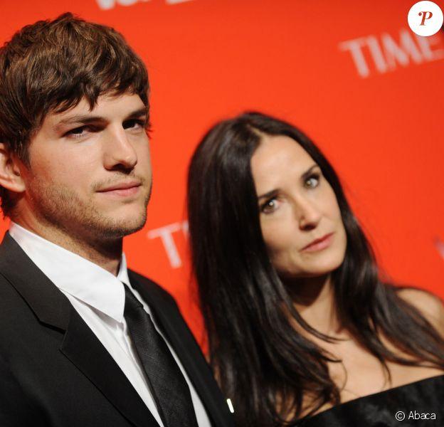 Ashton Kutcher et Demi Moore lors de la soirée du Time à New York le 4 mai 2010