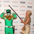 Heidi Klum, bluffante en vieille dame de 80 ans pour sa fête d'Halloween organisée à New York le 31 octobre 2013