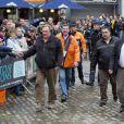 Gérard Depardieu a donné le depart du rallye de Condroz à Huy en Belgique, le 1er novembre 2013.