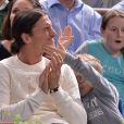 Et vlan, zlatané, le Zlatan ! Zlatan Ibrahimovic, sa femme Helena et leurs fils Maximilian (7 ans) et Vincent (5 ans) assistaient en famille à la demi-finale Djokovic-Federer au Masters de Paris-Bercy le 2 novembre 2013