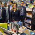 Valérie Trierweiler lors de sa visite au Salon du Livre Francophone à Beyrouth, le 5 novembre 2013.