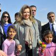 Valérie Trierweiler dans un camp de réfugiés syriens à Dalhamye au Liban le 5 novembre 2013.