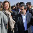 Valérie Trierweiler visite un camp de réfugiés syriens à Dalhamye au Liban le 5 novembre 2013.