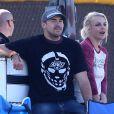 Britney Spears et son petit ami David Lucado, à Calabasas, regardent les enfants de la chanteuse jouer au football, le samedi 9 novembre 2013.