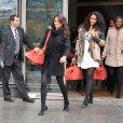 Exclusif - Miss Orléanais 2013 Agnès Latchimy et les candidates Miss France 2014 à la sortie de TF1 le 14 novembre 2013 à Paris.
