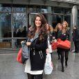 Exclusif - Miss Côte D'Azur 2013, Aurianne Sinacola, et les candidates Miss France 2014 à la sortie de TF1 le 14 novembre 2013 à Paris.