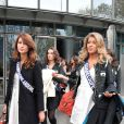 Miss Champagne-Ardennes 2013, Louise Bataille, et Chloé Deler, Miss Guadeloupe 2013,