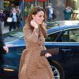 Kate Middleston en Orla Kiely à Euston, Londres, le 19 novembre 2013.
