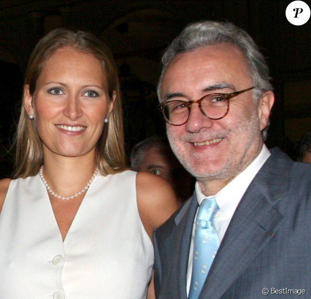 Gwenaëlle Gueguen et Alain Ducasse à Monaco en 2005.