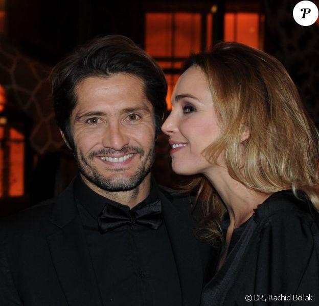 Exclusif : Bixente Lizarazu et Claire Keim lors de la soirée des GQ Awards, édition française, au sein du museum d'histoire naturelle à Paris le 20 novembre 2013