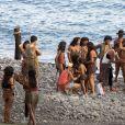 """Exclusif - Sur le tournage du film """"Heart of the sea"""" sur l'île de la Gomera, Canaries, le 20 novembre 2013."""