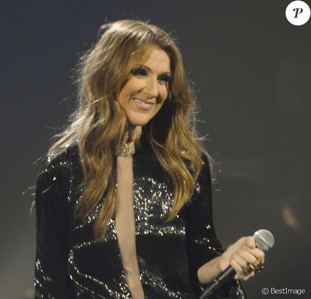 Exclu - Céline Dion lors de son premier concert à Bercy, à Paris, le 25 novembre 2013.