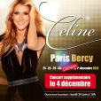 Céline Dion est en concert à Bercy du 25 novembre au 5 décembre 2013.
