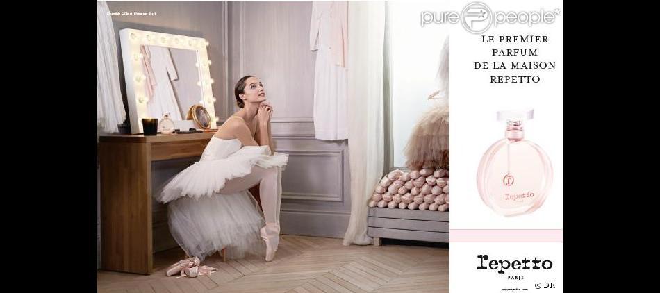 La légendaire maison Repetto lance en 2013 son premier parfum avec pour égérie la danseuse Etoile, Dorothée Gilbert.