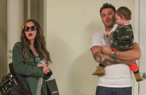 Megan Fox, enceinte, avec Brian et leur fils Noah : Son baby bump se dévoile !