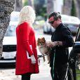 Gwen Stefani, enceinte, arrive chez ses parents avec son mari Gavin Rossdale pour fêter Thanksgiving. Los Angeles, le 28 novembre 2013.
