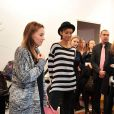 """Exclusif - Vanessa Demouy et Sonia Rolland lors de la 2eme édition du """"Spot des e-Fluent Mums"""", le salon des parents blogueurs, à l'espace Richelieu. Paris, le 4 décembre 2013."""