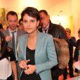"""Exclusif - Najat Vallaud-Belkacem lors de la 2eme édition du """"Spot des e-Fluent Mums"""", le salon des parents blogueurs, à l'espace Richelieu. Paris, le 4 décembre 2013."""