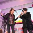 """Exclusif - Sandrine Quétier et Lââm lors de la 2eme édition du """"Spot des e-Fluent Mums"""", le salon des parents blogueurs, à l'espace Richelieu. Paris, le 4 décembre 2013."""