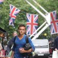 Tom Daley arrive à son hôtel à Londres, le 21 mai 2012