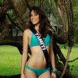 Mehiata Riaria, Miss Tahiti 2013, candidate en maillot de bain pour Miss France 2014.