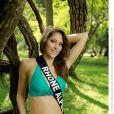 Mylène Angelier, Miss Rhônes-Alpes 2013, candidate en maillot de bain pour Miss France 2014.