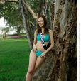 Laura Strubei, Miss Alsace 2013, candidate en maillot de bain pour Miss France 2014.