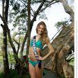 Camille Blond, Miss Auvergne 2013, candidate en maillot de bain pour Miss France 2014.