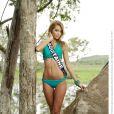 Camille Gafa, Miss Aquitaine 2013, candidate en maillot de bain pour Miss France 2014.
