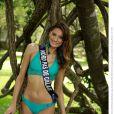 Gaëlle Mans, Miss Nord-Pas-De-Calais 2013, candidate en maillot de bain pour Miss France 2014.