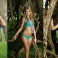 Miss Côte d'Auzur, Tahiti et Provence dévoilent leurs corps de déesses à quelques jours de l'élection de Miss France 2014, le 7 décembre 2013 à Dijon.