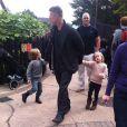 Brad Pitt a amené ses enfants, Vivienne et Knox, au parc de Legoland à Windsor le 29 septembre 2013